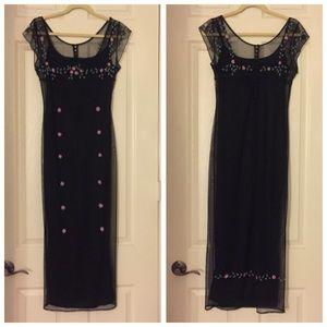 Vintage Cache Beaded Lace Dress